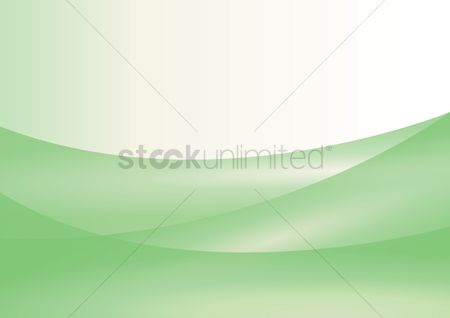 Patterns : Green curves with white background