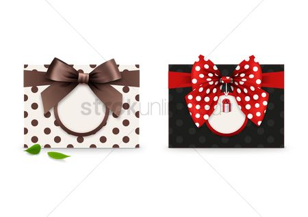 Ribbon : Greeting card with a ribbon