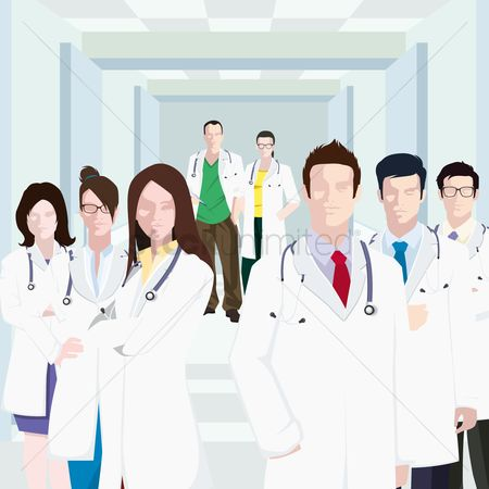 Group Of Doctors Clipart Free Doc Stock Vectors...
