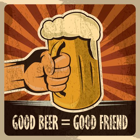Celebration : Hand holding beer mug