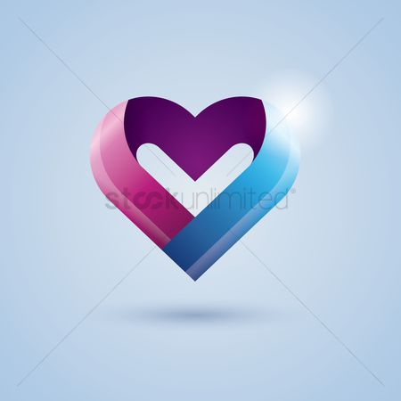 Ribbon : Heart ribbon icon