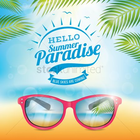 Leaf : Hello summer paradise poster
