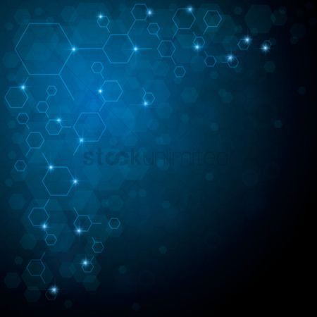 Background : Hexagon abstract background