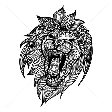 Animal : Intricate lion design