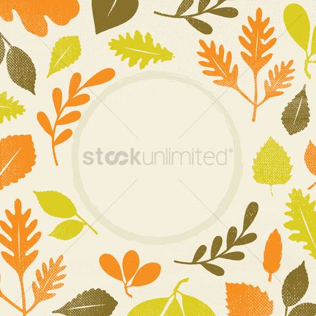 Grunge : Leaves design