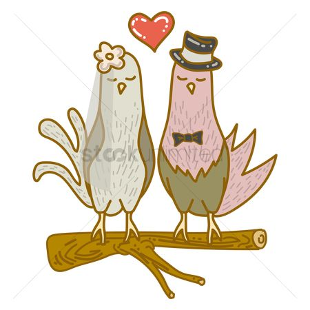 Romantic : Love birds married