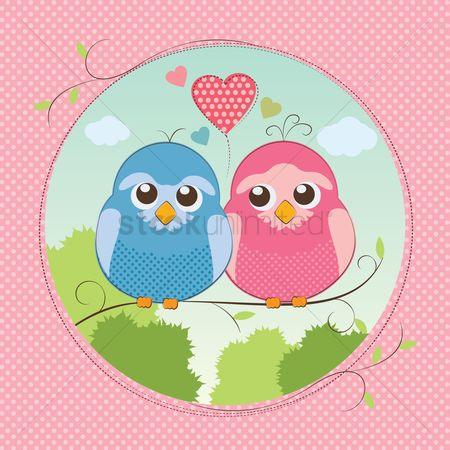Romantic : Love birds
