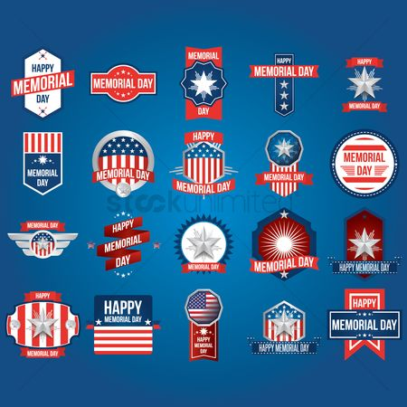 Vectors : Memorial day collection