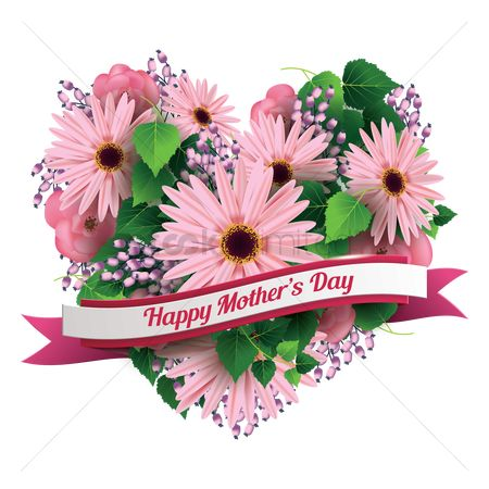 Ribbon : Mothers day greeting