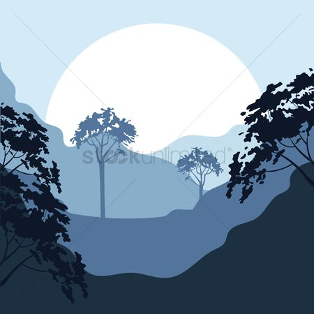 Tree : Mountain and tress landscape