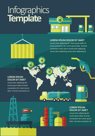 Banners : Oil and gas infographic