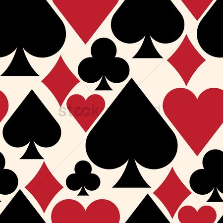 Heart : Playing cards background