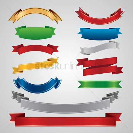 Ribbon : Set of banners
