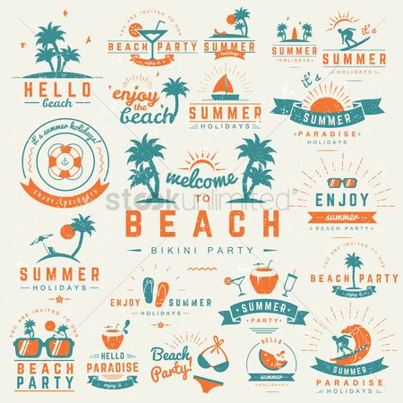 Party : Set of beach wallpapers