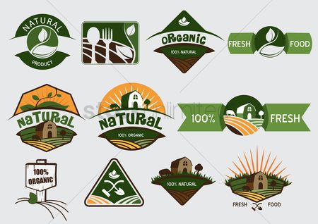 Food : Set of natural product labels