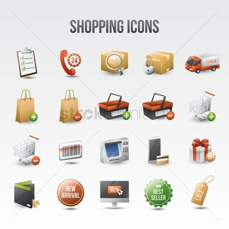 Vectors : Shopping icon set