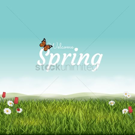 Vectors : Spring background