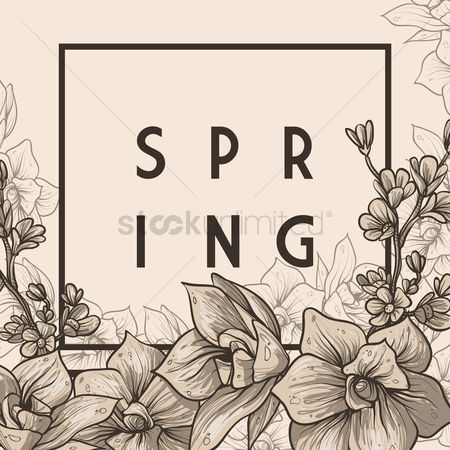 Vectors : Spring card design