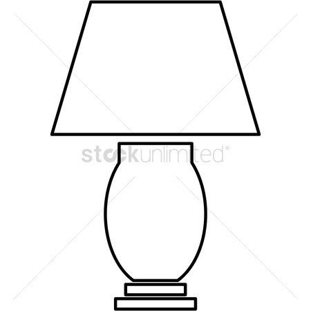 Outline Black Lamp Clipart Www Bilderbeste Com