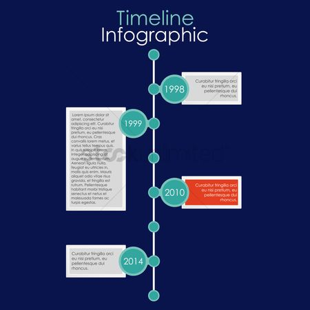 Infographic : Timeline infographic