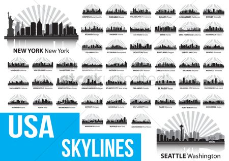 Background : Usa skylines