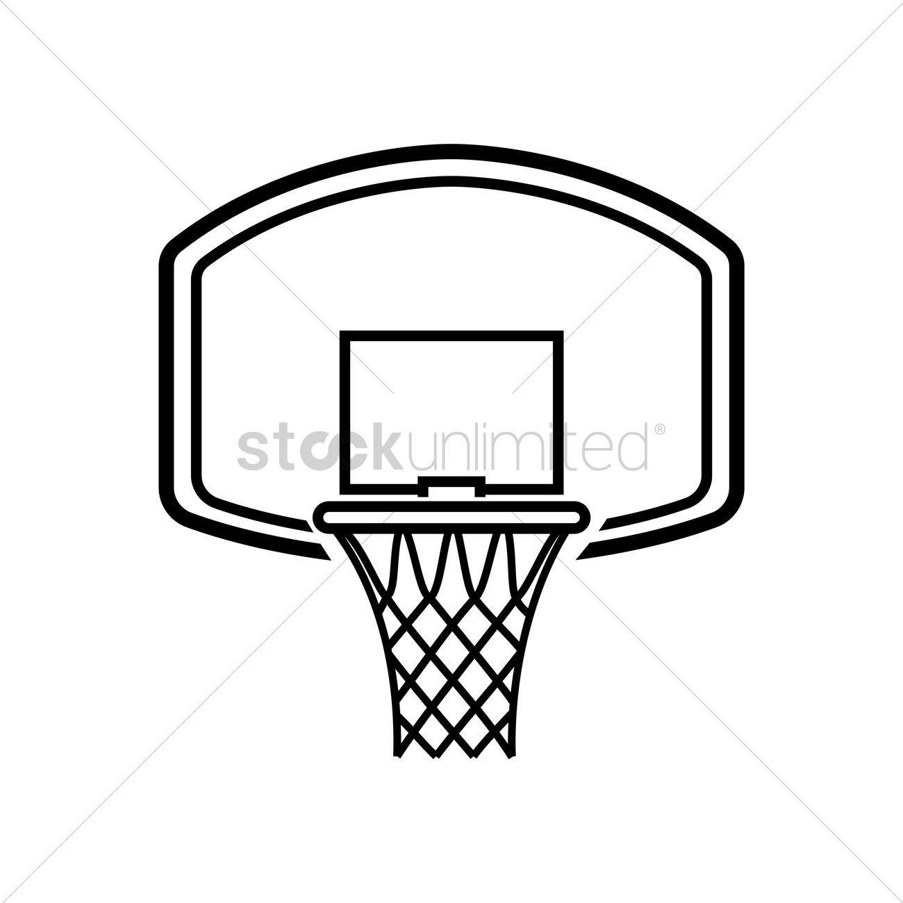 basketball hoop vector image 1979496 stockunlimited basketball goal clip art simple Full Basketball Goal No Background