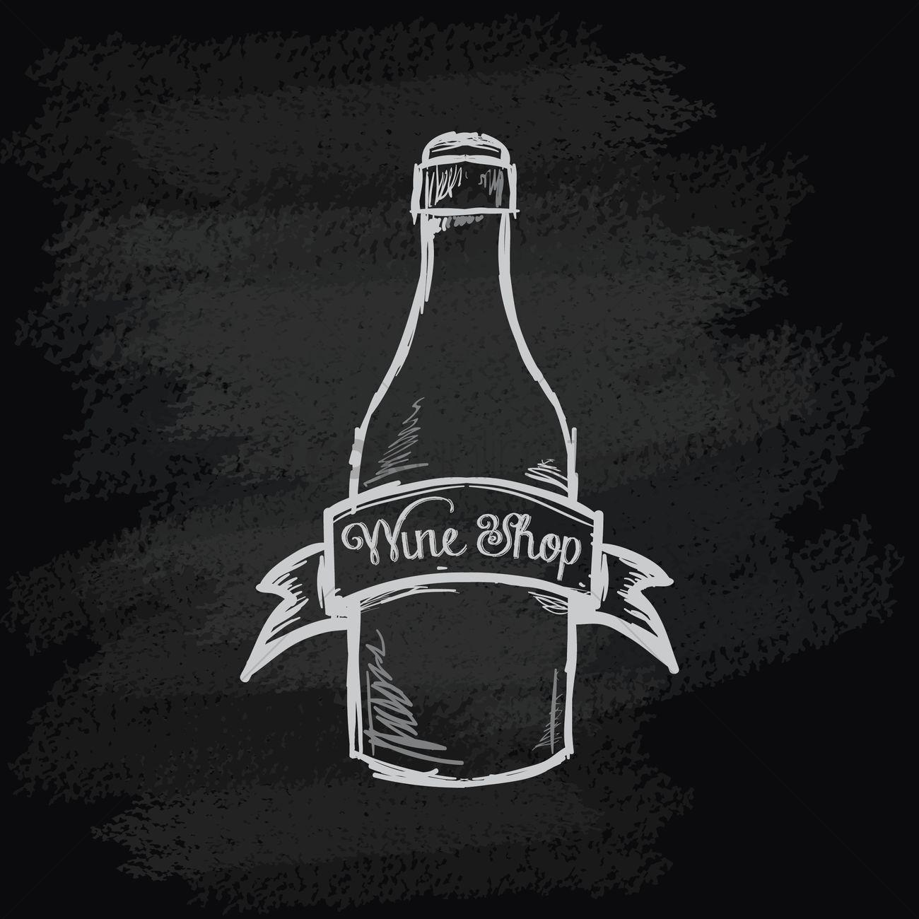 Chalk Outline Wine Glass No Background