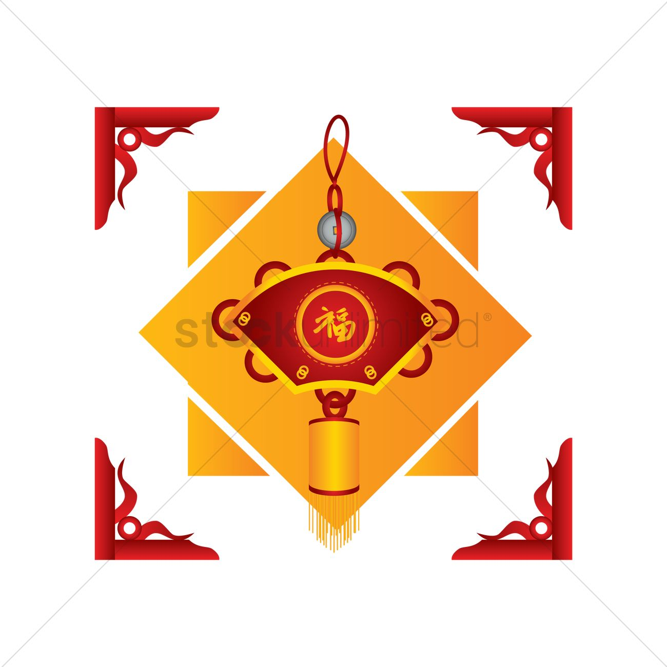 Chinese New Year Decoration Vector Graphic