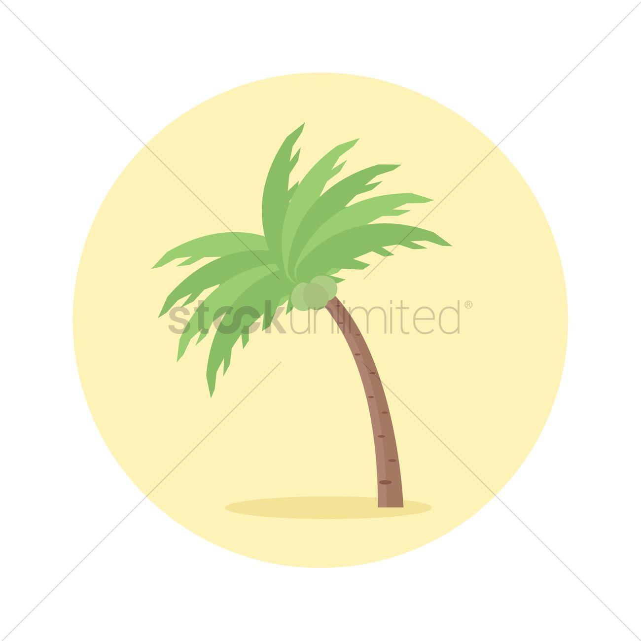 Coconut tree icon Vector Image - 1285096 | StockUnlimited