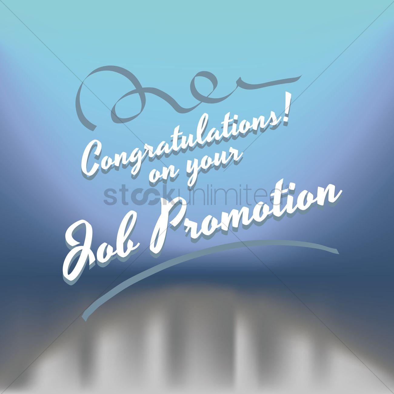 Congratulations on your job promotion greeting Vector Image ...