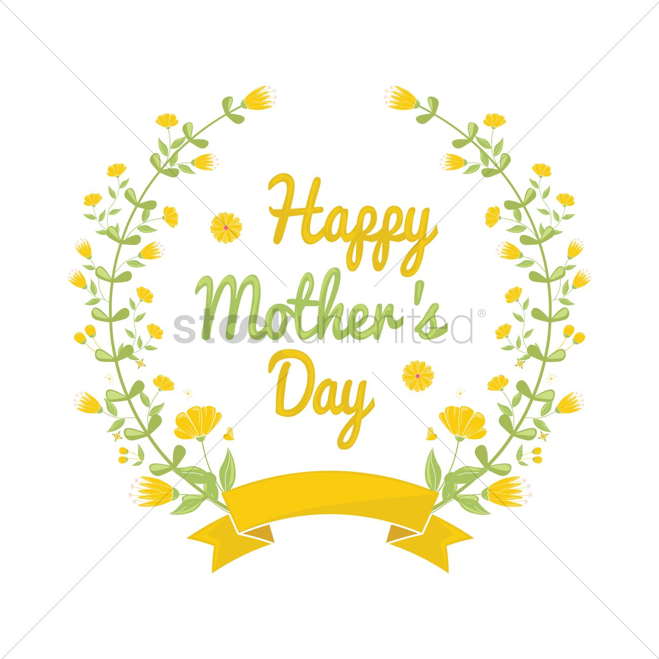 happy mothers day floral design vector image 1808960