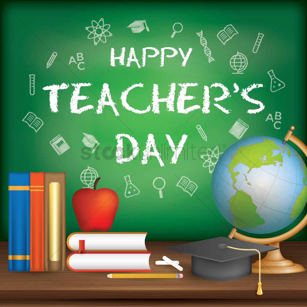 happy teacher's day design vector image  1987192