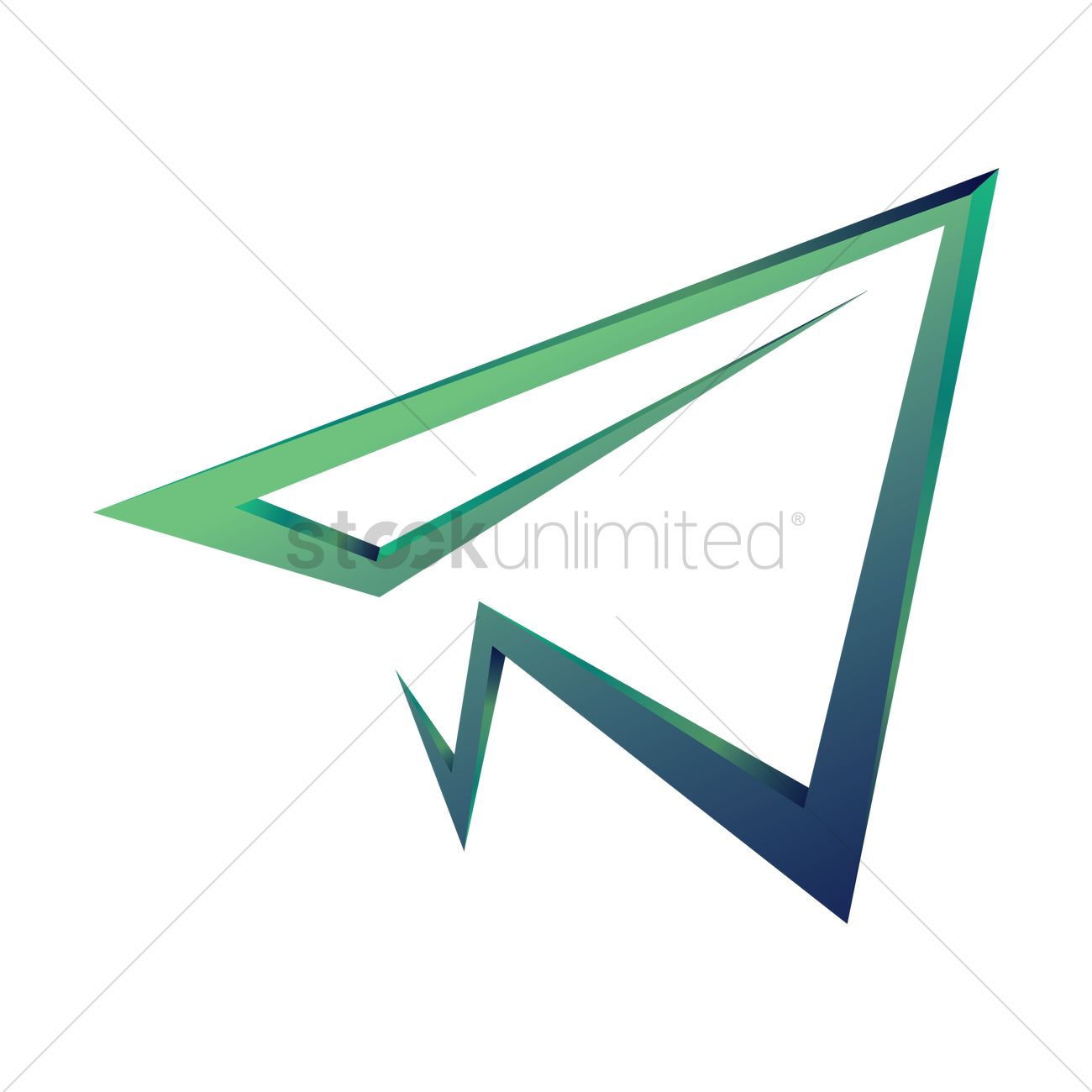 Paper plane logo element Vector Image - 1817836 ...