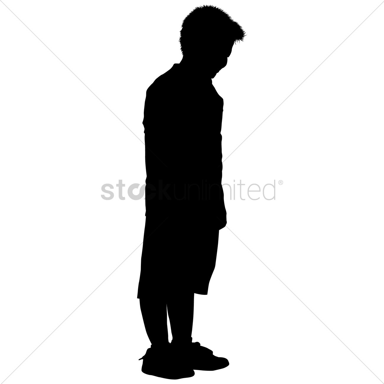 Child Standing Silhouette Vector | www.imgkid.com - The ...
