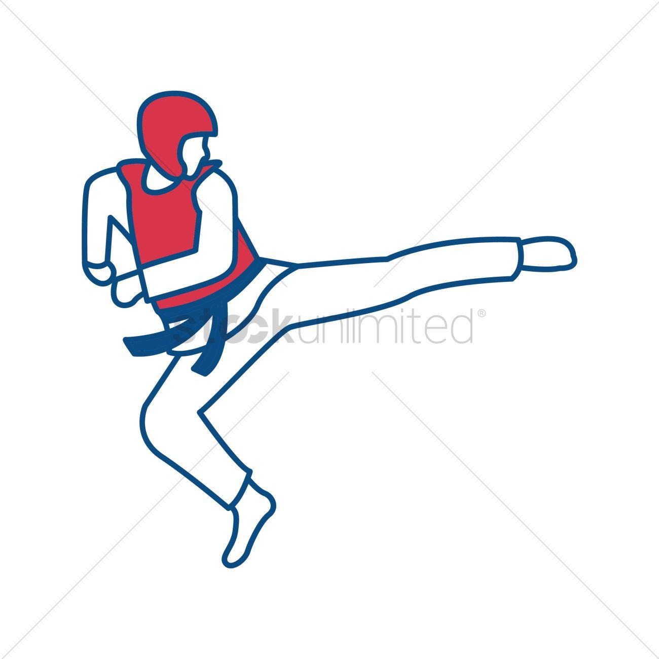 free taekwondo vector image 1624244 stockunlimited