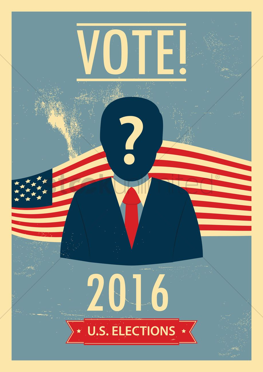 Us elections poster Vector Image - 1563208 | StockUnlimited