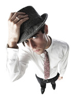 Businessman wearing hat