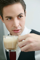 Businessman with a cup of coffee