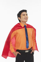 Businessman with a red cape