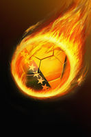 Flaming bosnia and herzegovina soccer ball