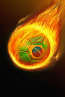 Flaming brazil soccer ball