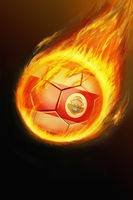 Flaming costa rica soccer ball