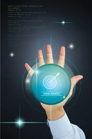 Popular : Hand gesture with target audience concept