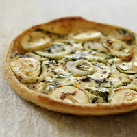 Italian goats cheese and spinach quiche