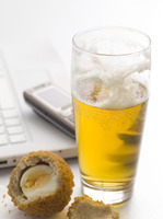 Lager and scotch egg