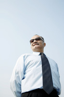 Senior businessman wearing sunglass