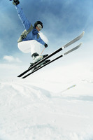 Skier performing a jump
