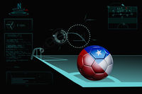 Taking a corner infographic with chile soccer ball