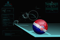 Taking a corner infographic with croatia soccer ball