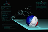 Taking a corner infographic with france soccer ball